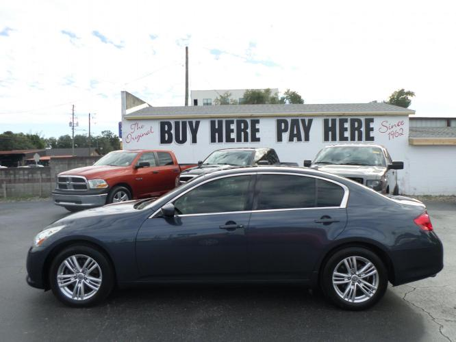 2012 Infiniti G Sedan 37x AWD (JN1CV6AR8CM) with an 3.7L V6 DOHC 24V engine, 5-Speed Automatic transmission, located at 6112 N Florida Avenue, Tampa, FL, 33604, (888) 521-5131, 27.954929, -82.459534 - Photo #0