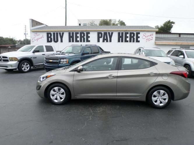 2016 Hyundai Elantra Limited (5NPDH4AE1GH) with an 1.8L L4 DOHC 16V engine, 6-Speed Automatic transmission, located at 6112 N Florida Avenue, Tampa, FL, 33604, (888) 521-5131, 27.954929, -82.459534 - Photo #0