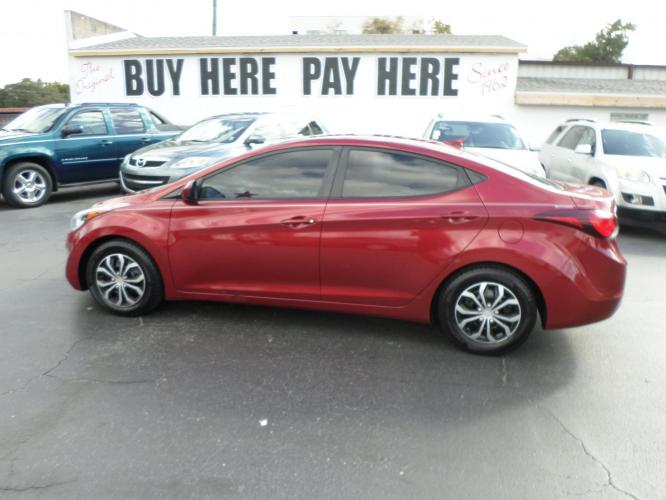 2016 Hyundai Elantra Limited (5NPDH4AE6GH) with an 1.8L L4 DOHC 16V engine, 6-Speed Automatic transmission, located at 6112 N Florida Avenue, Tampa, FL, 33604, (888) 521-5131, 27.954929, -82.459534 - Photo #0